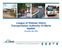League of Woman Voters Transportation Authority of Marin Update