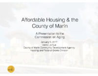 Affordable Housing & the County of Marin